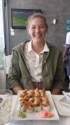 Ana Sofia and her sushi