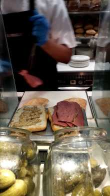 Salt beef sandwich at Selfridges'
