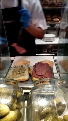 Salt beef sandwich at Selfridges'