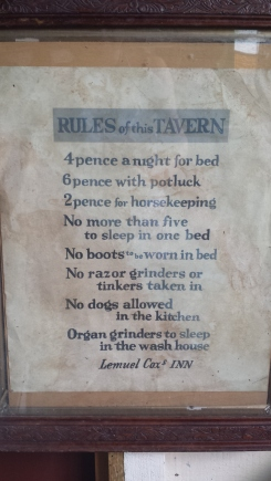 Rules of a tavern