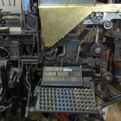An old printing press