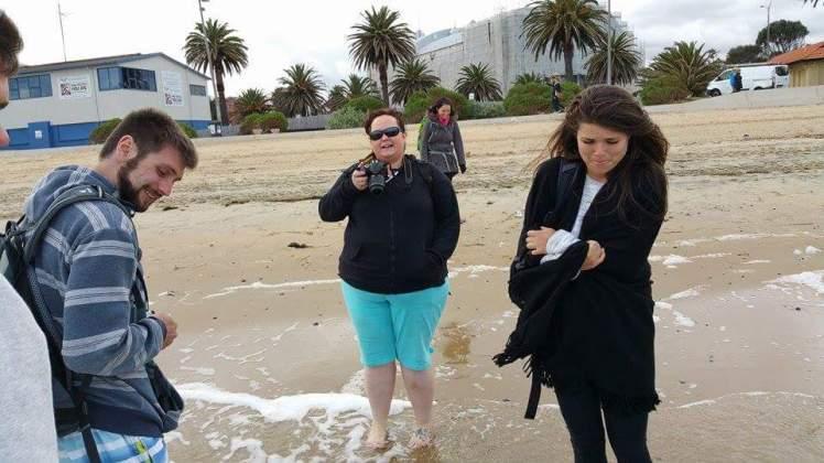 Bloody freezing on St Kilda beach