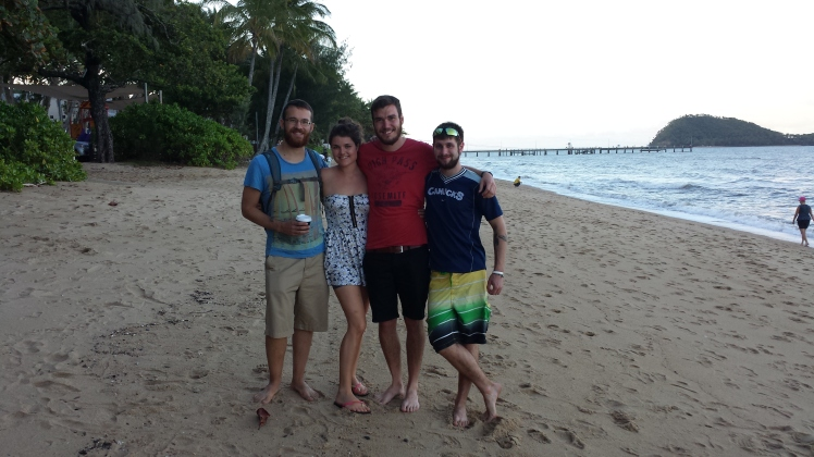 A final photo with the family - Palm Cove, Cairns