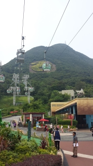 Cable cars @ Ocean Park that transport you up and over the mountain
