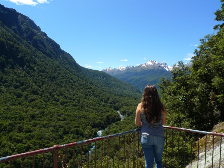 Stop off overlooking Fiordland