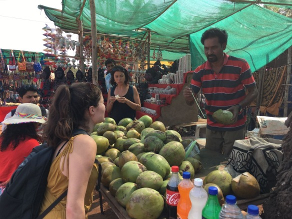 Always time to grab a 30p fresh coconut!
